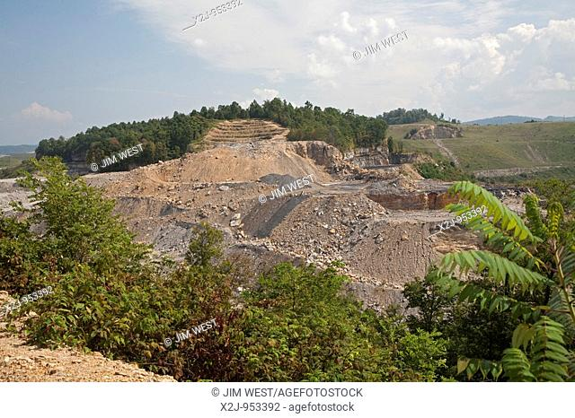 Whitesville, West Virginia - The Patriot Coal Corporation's Samples mine, which uses the technique of mountaintop removal to mine coal  The mountain tops are...