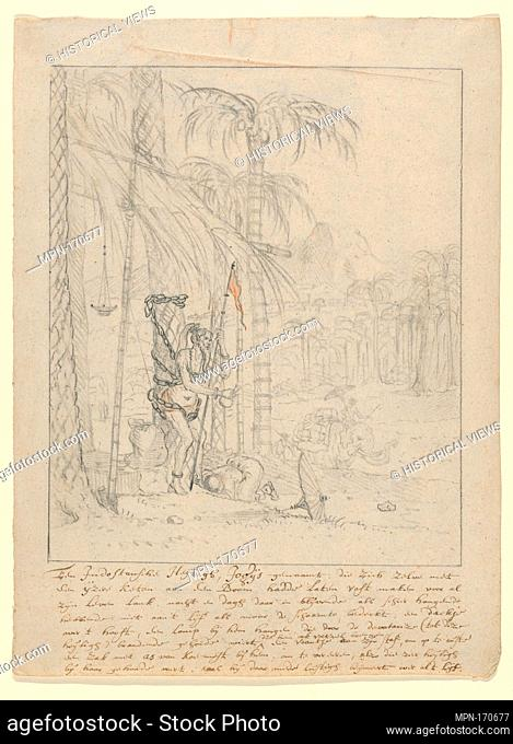 An Indian Yogi Tied to a Palm Tree. Artist: Willem Schellinks (Dutch, Amsterdam 1623-1678 Amsterdam); Former Attribution: Anonymous, Dutch
