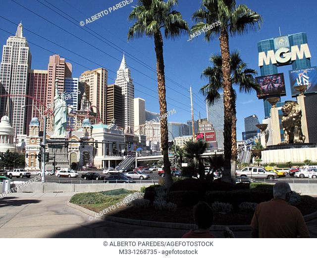 New York and MGM Casino, Las Vegas, Nevada, USA