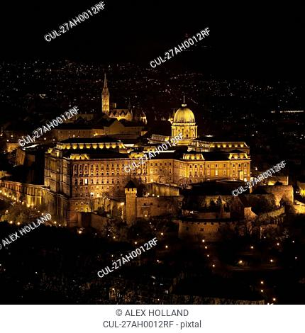 Buda Castle at night