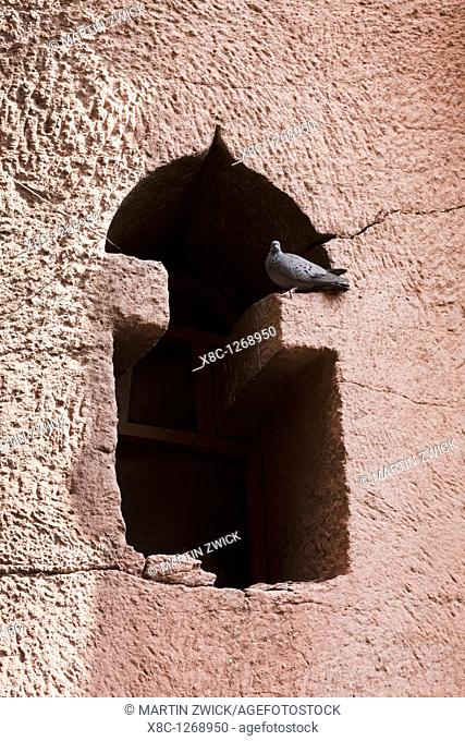 The rock-hewn churches of Lalibela in Ethiopia  Twin church of Bet Gabriel - Rufael, detail of facade  The churches of Lalibela have been constructed in the...