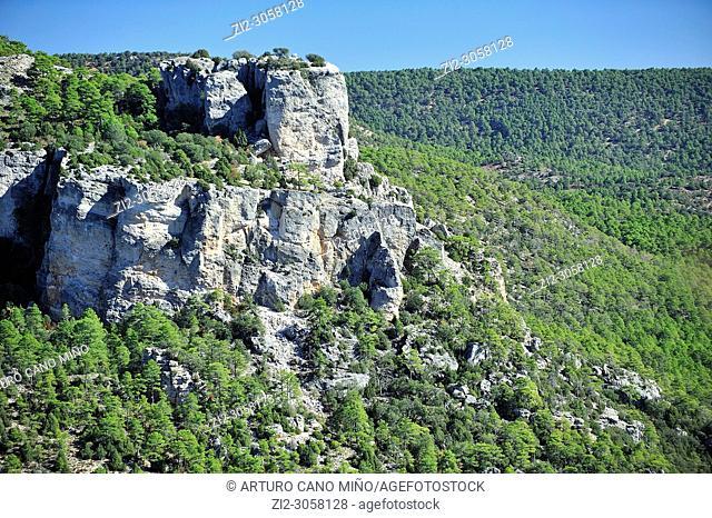 Alto Tajo Natural Park. Zaorejas town, Guadalajara province, Spain