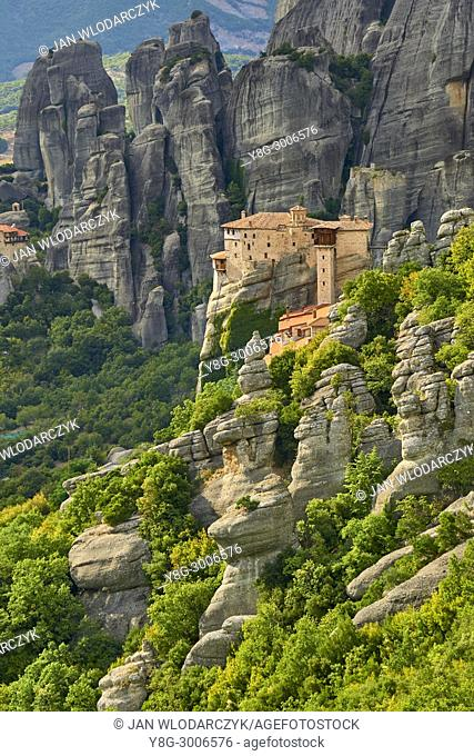 Landscape view at Roussanou Monastery, Meteora, Greece