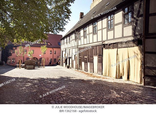 Cranach Courtyard, Lutherstadt Wittenberg, Saxony-Anhalt, Germany, Europe