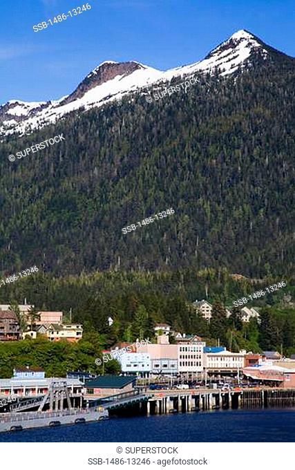 City at the waterfront, Ketchikan, Alaska, USA