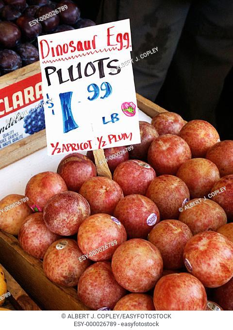 Pluots at market