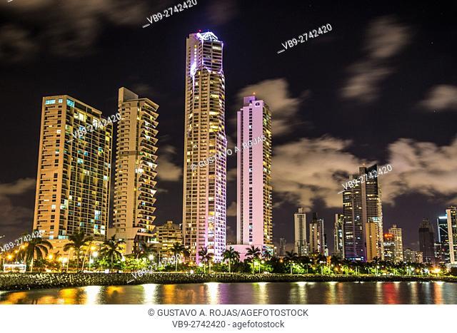 Panama Skyline Waterfront av balboa