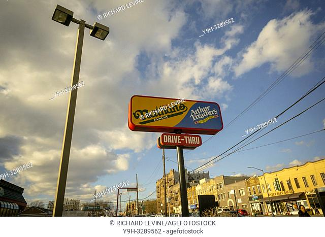 Signage outside the stand-alone Nathan's Famous location in the Bay Ridge neighborhood of Brooklyn in New York on its last day, Sunday, January 6, 2019