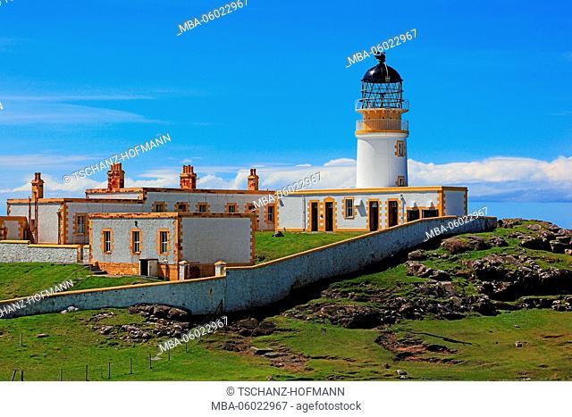 Scotland, the Inner Hebrides, Isle of Skye, Duirinish peninsula, landscape at Neist Point, Lighthouse