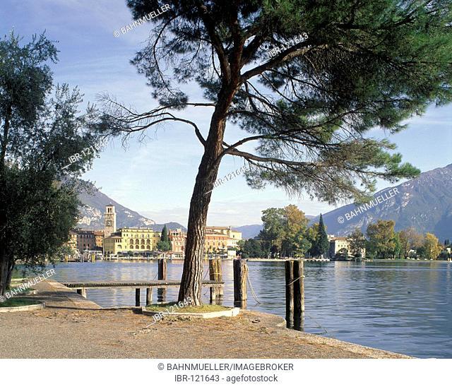 Riva at the Lake Garda Lago di Garda Italy Italia