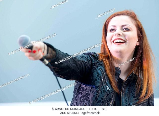 Singer and songwriter Annalisa (Annalisa Scarrone) performing live during the event Panorama d'Italia. Padua, Italy. 10th June 2016