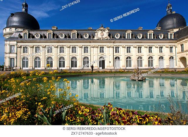 Chateau of Valencay in the Loire Valley, Indre, Centre, France. Famous for its history. For over thirty years it was owned by the illustrious Charles Maurice de...