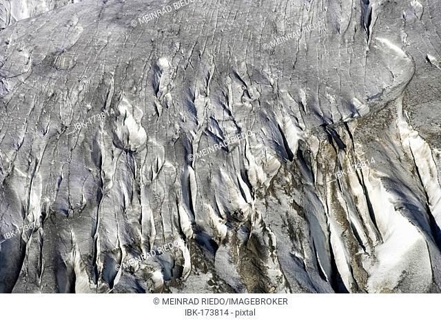 Crevasses of the Aletsch Glacier, Valais, Switzerland
