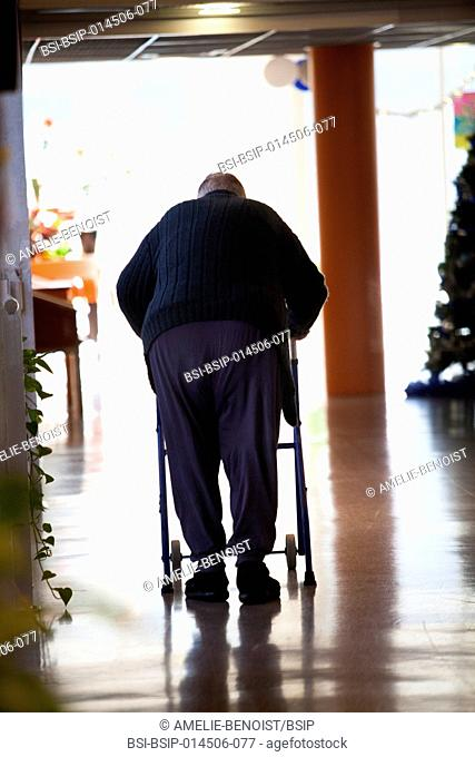 Reportage in a state nursing home in Haute-Savoie, France