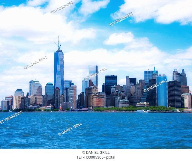 Cityscape with Manhattan and Freedom Tower