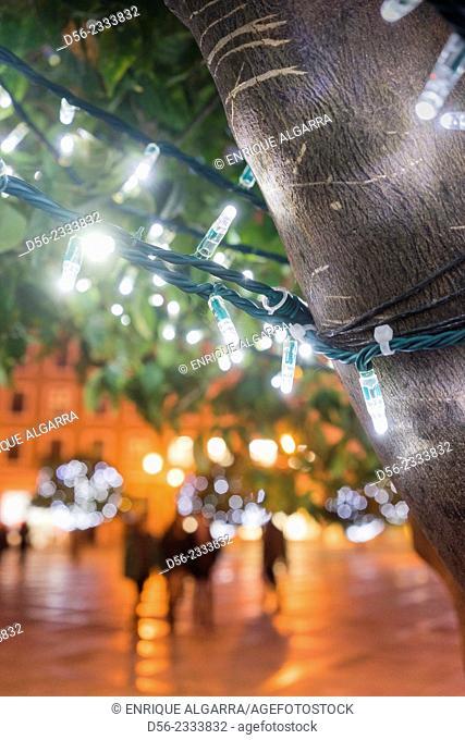 christmas lights, Valencia, Spain