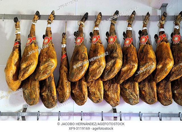 Ham factory. Candelario. Salamanca province. Castilla y Leon. Spain