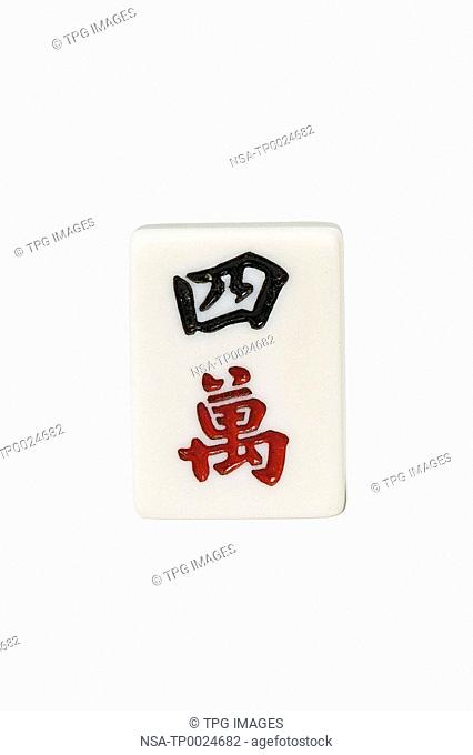 Studio shot of mahjong