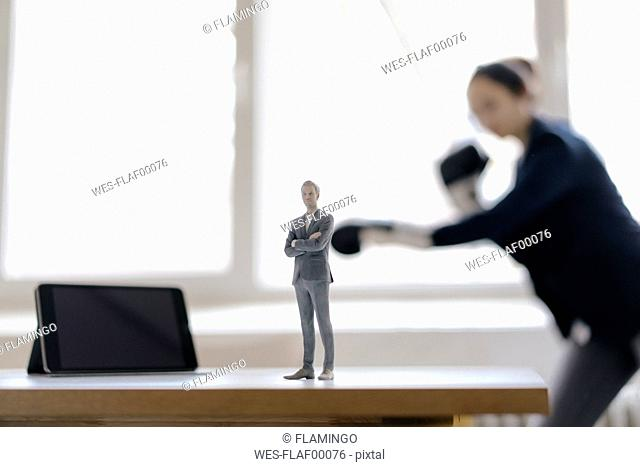 Businesswoman fighting with her manager