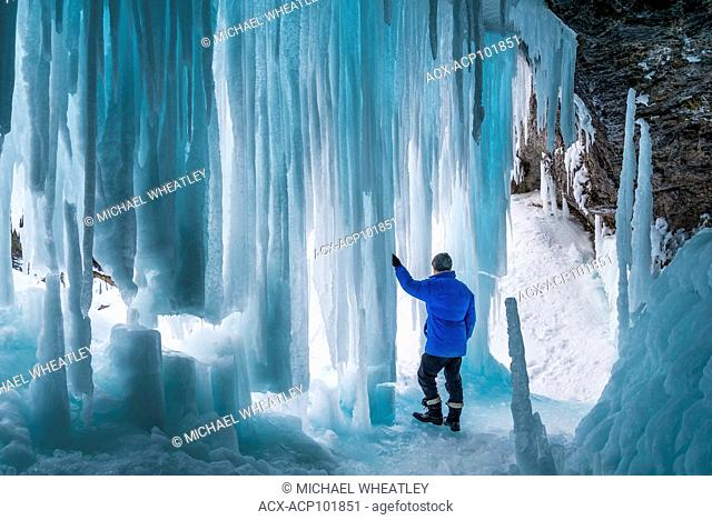 Behind the ice. Frozen Panther Falls, Banff National Park, Alberta, Canada (self-released)