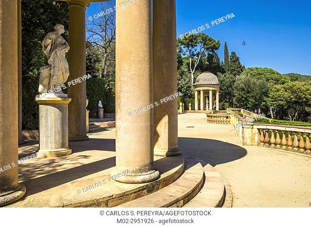 Public park of the Labyrinth Park of Horta, Barcelona, Catalonia Spain Europe