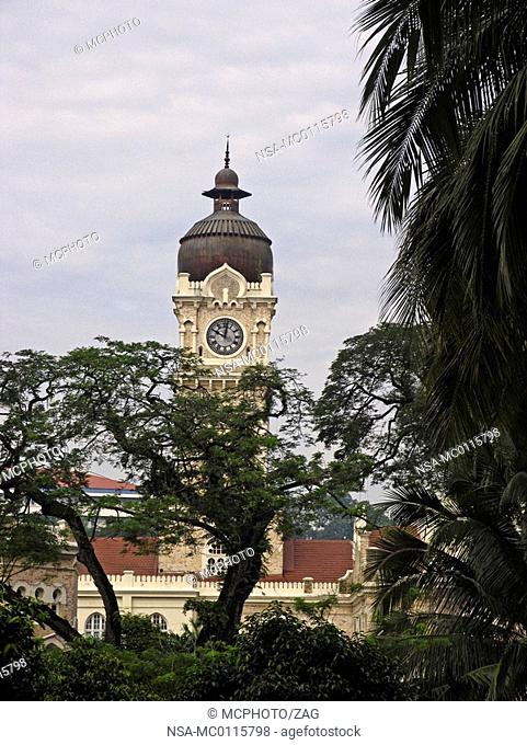 Belltower of the Sultan Abdul Samad building at Merdeka Square in Kuala Lumpur