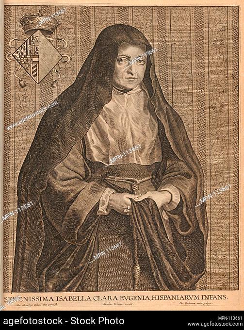 Isabella Clara Eugenia. Artist: engraved by Abraham Verhouven (Antwerp, 1580-1639); Artist: after Peter Paul Rubens (Flemish, Siegen 1577-1640 Antwerp); Date: n