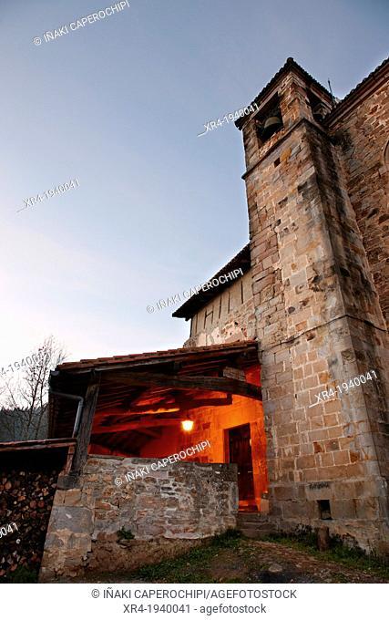 Church of Santa Maria Magdalena, Neighborhood of Marin, Eskoriatza, Gipuzkoa, Guipuzcoa, Goierri, Basque Country, Spain
