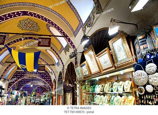 Turkey, Istanbul, Grand Bazaar interior