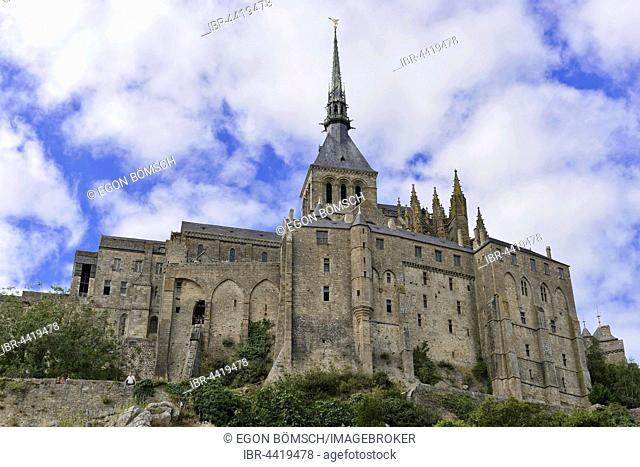 Mont St. Michel Abbey, Le Mont Saint-Michel, Manche, Normandy, France