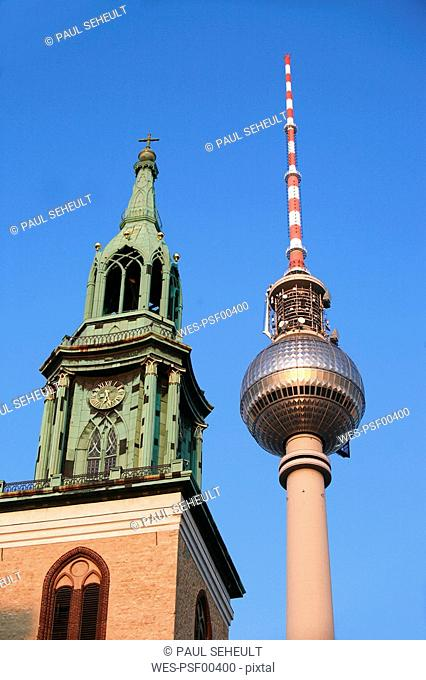 Germany, Berlin, St.Mary¥s Church with TV tower