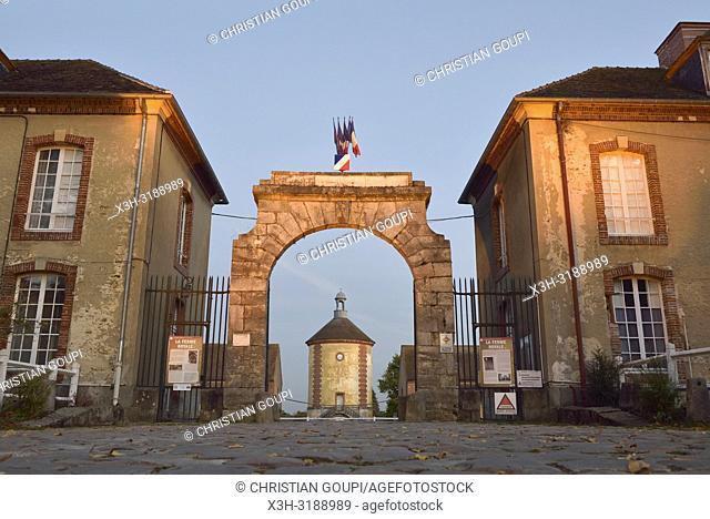 portail d'entree de la Bergerie nationale de Rambouillet, Parc du Chateau de Rambouillet, departement des Yvelines, region Ile-de-France, France