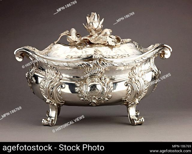 Silver Tureen (a), lid (b) and liner (c) [pair with 1975.1.2561a,b]. Artist: Étienne-Jacques Marcq (born ca. 1705-1781); Date: 1749; Culture: French
