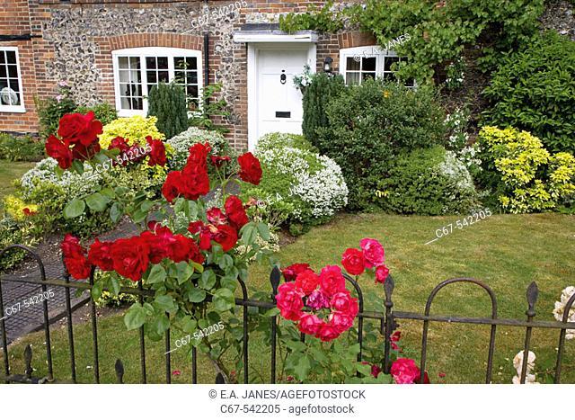 Old Cottage & Garden Hambleden Buckinghamshire UK Late June