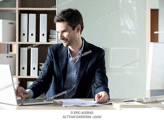 Entrepreneur at work