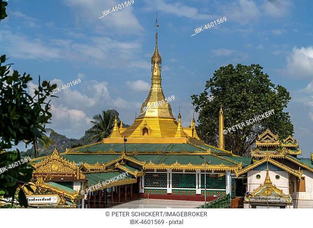 Shwe Yin Myaw Pagoda, also Shweyinhmyaw Paya, Hpa-an, Myanmar