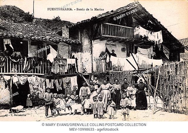 Hondarribia, Spain - House in the Marina Neighbourhood with its many occupants!