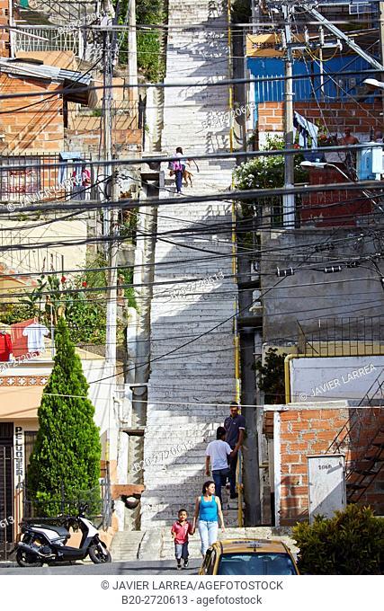 Medellin Graffiti Tour, Comuna 13, Medellin, Antioquia department, Colombia, South America