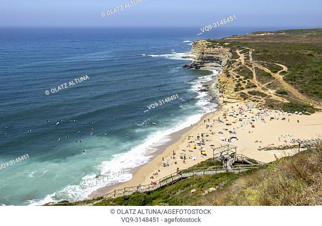 Ericeira, Praia Ribeira D'ilhas, Ribeira D'ilhas beach, Mafra, Portugal, Europe