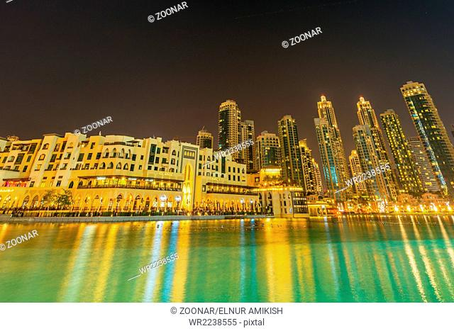The dubai - january 9, 2015: soul al bahar on january 9 in uae, dubai. soul al bahar area is popular with tourists