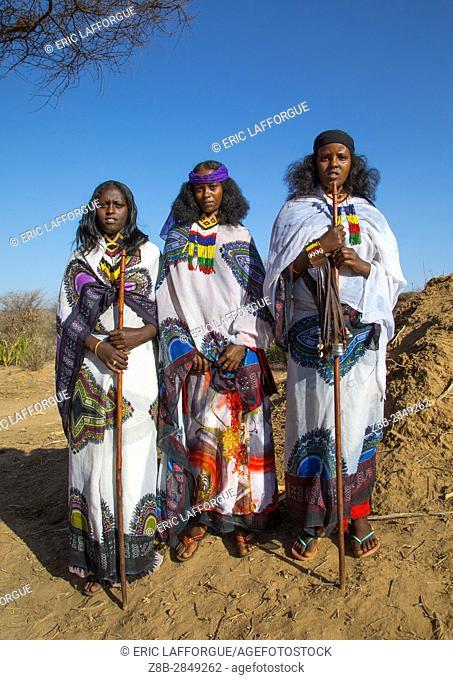 Borana tribe women during the Gada system ceremony, Oromia, Yabelo, Ethiopia