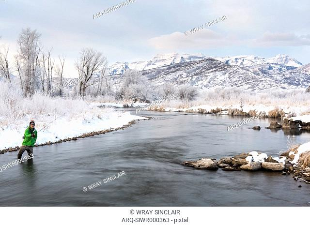 Fly Fishing On The Middle Provo During The Winter