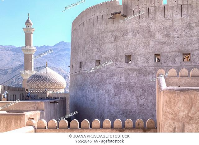 Nizwa Fort, Oman, Middle East, Asia