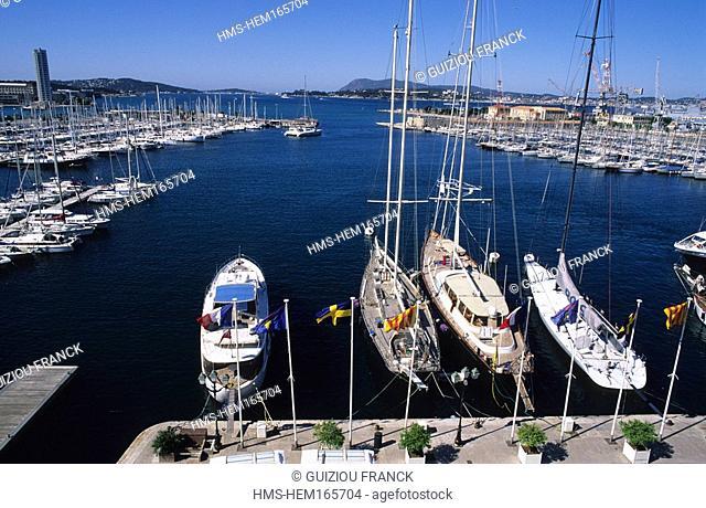 France, Var, Toulon, port