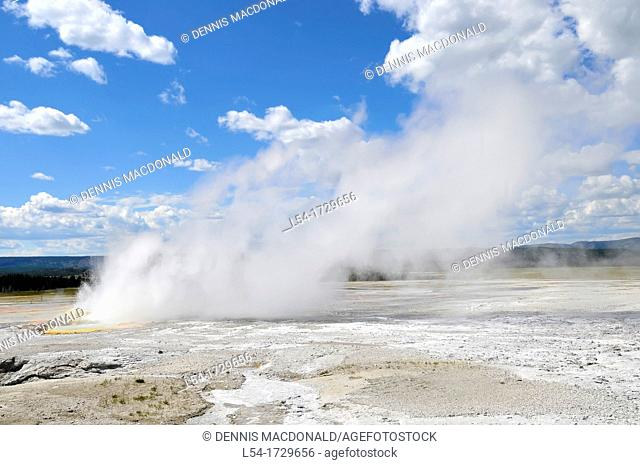 Fountain Geyser Yellowstone National Park Wyoming WY United States