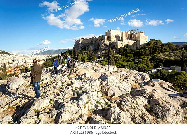 Areopagus, Mars Hill and Acropolis; Athens, Greece
