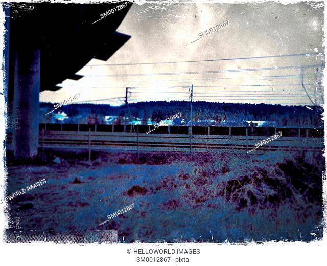 By the railway tracks, Sweden, Scandinavia