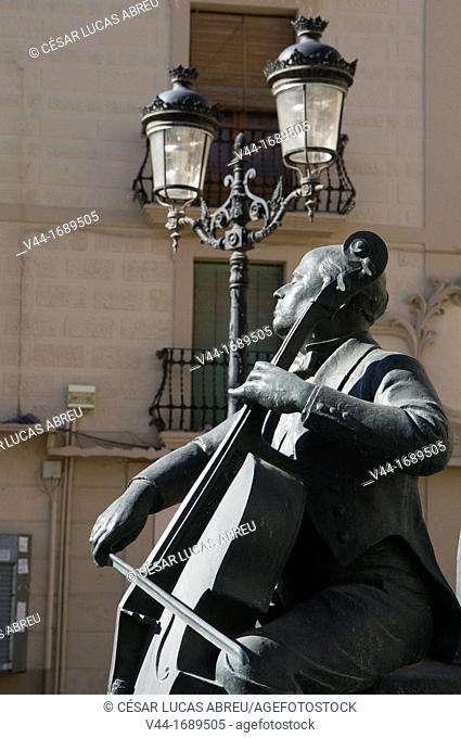 Pau Casals Monument, El Vendrell. Costa Dourada, Catalonia. Spain