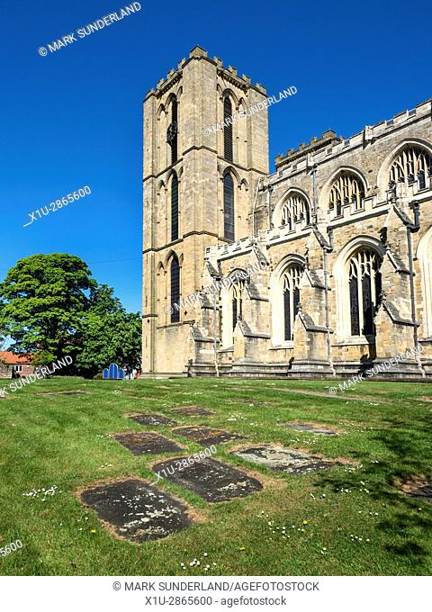 Ripon Cathedral in Spring Ripon North Yorkshire England