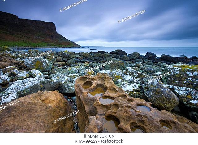 Fair Head from Murlough Bay, Causeway Coast, County Antrim, Ulster, Northern Ireland, United Kingdom, Europe